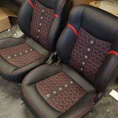 34 seats done! #carinterior #thehogring #autoupholstery