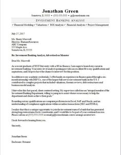 Investment Banking Analyst Resume Endearing Cover Letter Template Analyst  Cover Letter Template  Pinterest .