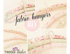 Twigg studios: fabric hangers diy