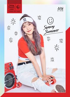 GFriend's SinB - GFriend Summer Mini Album - Will be released on 180719 Gfriend And Bts, Sinb Gfriend, Gfriend Sowon, Kpop Girl Groups, Korean Girl Groups, Kpop Girls, Extended Play, Seulgi, Gfriend Album