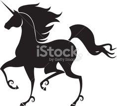 Unicorn Silhouette Royalty Free Stock Vector Art Illustration