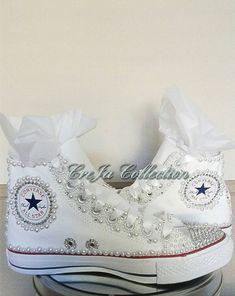 Bridal Converse Pearl Converse Bling Converse Wedding Bride Converse c51f6206fc