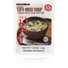 Miso Suppe mit Tofu und Wakame. Für ganz Eilige ... nur mit kochendem Wasser aufgiessen - umrühren - geniessen!