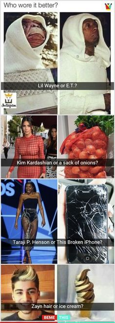 10+ Who Wore It Better Photos That Will Make You Laugh #celebrity #whoworeitbetter #funnypictures #funnypics #photos #bemethis