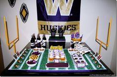 Football Party Ideas  #football #party #university of Washington #huskies