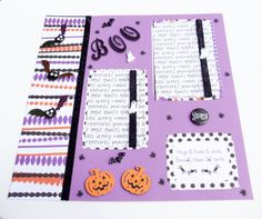 Halloween Scrapbook Layout  2 Pages Premade 3 D 12 by simplysuzie2, $17.00