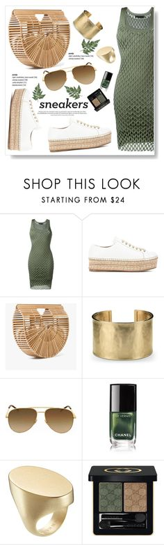 """You Make Me Happy"" by viola279 ❤ liked on Polyvore featuring Alexander Wang, Prada, Cult Gaia, Blue Nile, Yves Saint Laurent, Maison Margiela, Gucci and whitesneakers"