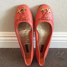 Louis Vuitton Flats Never worn! Size: 36.5. Protective pads were added to the bottom of the shoes. Doesn't come with original dust bag & box. Louis Vuitton Shoes Flats & Loafers