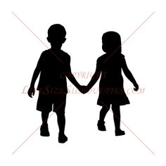 Looking for EASY Children's Decor? Life-size CHILDREN SILHOUETTE WALL DECALS are perfect for decorating youth rooms, daycares, schools, homes.Life-size Boy and Girl Holding Hands silhouette decals. Girls Holding Hands, Hand Silhouette, Wall Transfers, Youth Rooms, Quilting Patterns, Painting On Wood, Kids Boys, Kids Playing, Silhouettes