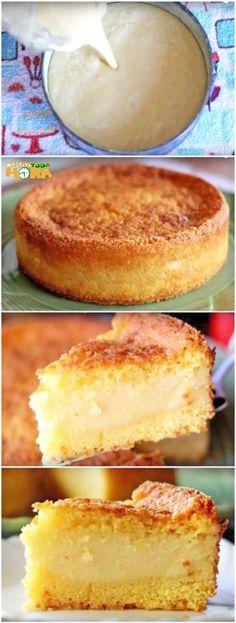 Food Cakes, Brazillian Food, Pastel Cakes, Good Food, Yummy Food, Muffins, Pie Cake, Portuguese Recipes, Pie Dessert