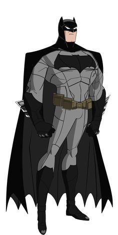 Updated Dawn of Justice Batman JLU Style by Alexbadass.deviantart.com on @DeviantArt