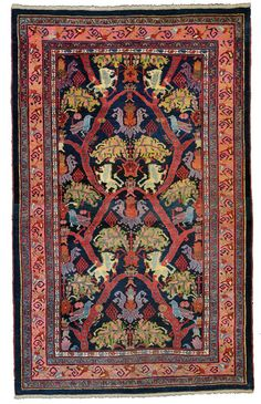 Bijar rug, Persia circa 1900 on , Persian Tribal Rugs, Floor Rugs, Carpet, Woven Rug, Kilim Carpets, Rugs On Carpet, Rag Rug, Rugs, Home Rugs