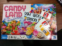How to turn your old Candy Land game into a sight word game. We never have time to do this at school, so if I add sight words I can add this to a literacy center. Teaching Sight Words, Sight Word Games, Sight Word Activities, Literacy Activities, Holiday Activities, Reading Activities, Teaching Reading, Fun Learning, Teaching Ideas