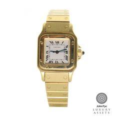 #cartier santos ladies 18ct #gold automatic #watch