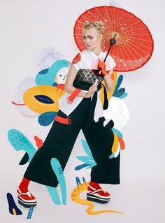 """Japonism"" Harper`s Bazaar Art Indonesia Illustration on Behance"