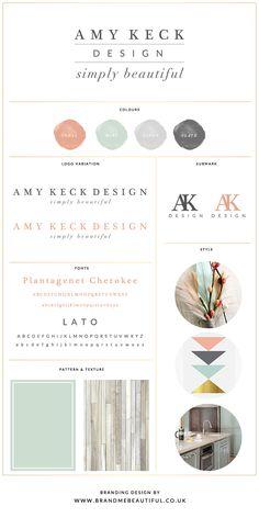 Branding board concept for Amy Keck Design by Brand Me Beautiful www.brandmebeautiful.co.uk