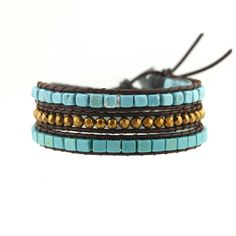 Turquoise Dreams Leather Wrap