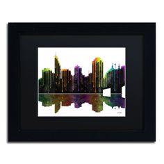 Cincinatti Ohio Skyline by Marlene Watson Framed Graphic Art