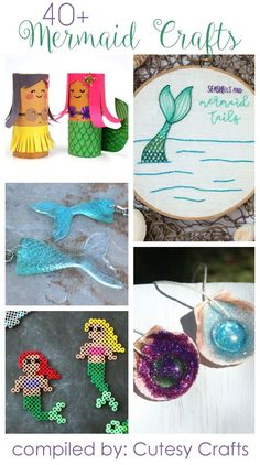 40+ Adorable Mermaid Crafts for Kids and Adults - Cutesy Crafts