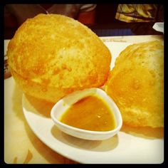 """""""Bubble scallion pancakes with curry dipping sauce at Peter Chang's in Charlottesville. """""""