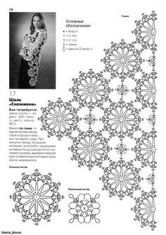 Flower crochet motif for a shawl or a scarf, a doily, a table runner, coasters, curtains, bedspread... ;-):