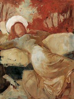Kirk Richards 2012 Goddess In Repose Christian Paintings, Christian Artwork, Painting Process, Figure Painting, Spiritual Paintings, Traditional Paintings, Scripture Art, Sacred Art, Cool Paintings