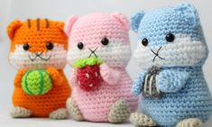 Get the PDF version to the hamster amigurumi crochet pattern here! Visit our site to learn more and discover more free crochet patterns. Crochet Animal Patterns, Crochet Patterns Amigurumi, Stuffed Animal Patterns, Crochet Animals, Crochet Toys, Free Crochet, Pdf Patterns, Crochet Projects, Pom Poms