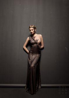 Платье - шёлк, кружево / dress - silk, lace