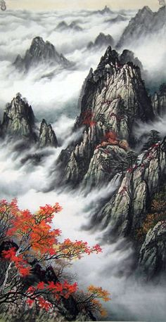 Mountains and mist