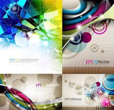 Abstract Vector Backgrounds, under Textures/Backgrounds Happy new year dear readers and welcome back. The pack contains 4 EPS files which contain all you see below. These abstract vector backgrounds are great for web designers and graphic designers.