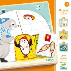 Puzzle 3 layers - Igloo Djeco Teen Baby Children- A large selection of Toys and Hobbies on Smallable, the Family Concept Store - More than 600 brands.