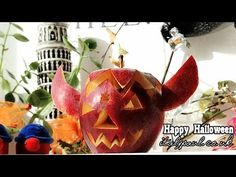 Art In Apple Show   DIY Halloween Decorations: Apple Jack-O-Lanterns   Apple Carvings Garnish