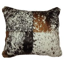 Speckled Hide with Stitched Front Pillow