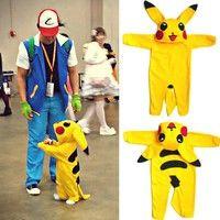 Baby Boy Girl Pokemon Romper Newborn Pikachu Jumpsuit Infant Winter Long Outfit