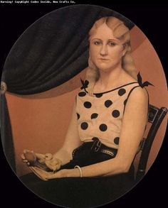 1930 Grant Wood (American regionalist artist, American Gothic (the artist's sister) One of America's leading Regionalist . Canadian Artists, American Artists, Grant Wood Paintings, Wholesale Picture Frames, Grant Wood American Gothic, Artist Grants, Social Realism, Art Deco, Art Blog