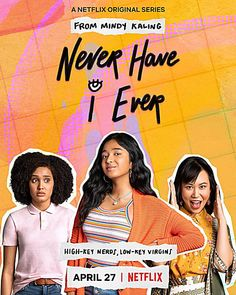 Name: Never Have I Ever (Netflix Series) Cast: Maitreyi Ramakrishnan, Poorna Jagannath, Darren Barnett, Lee Rodriguez, Ramona Young. Made by Mindy Kaling and Long Fisher Comedy Series, Film Serie, Series Movies, Movies And Tv Shows, Films Netflix, New Netflix, Shows On Netflix, Mindy Kaling, Pretty Little Liars