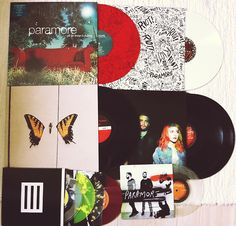 Paramore Vinyls>> I have Riot and Brand new eyes!!!! just need the rest!