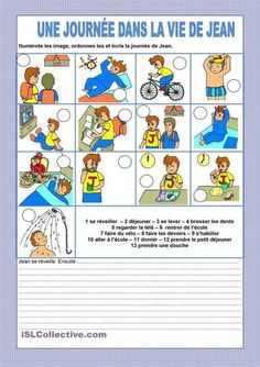 Une journée dans la vie de Jean | français langue étrangère | Scoop.it