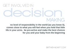 Decision Making for Birth