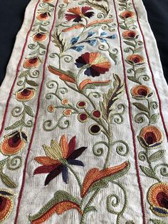 Discover thousands of images about Handmade Uzbek Suzani Hand Embroidery Patterns Flowers, Simple Embroidery Designs, French Knot Embroidery, Crewel Embroidery Kits, Hand Work Embroidery, Machine Embroidery Designs, Ribbon Embroidery, Embroidered Flowers, Primitive Christmas