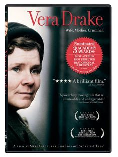 Abortionist Vera Drake finds her beliefs and practices clash with the mores of 1950s Britain. DVD 594