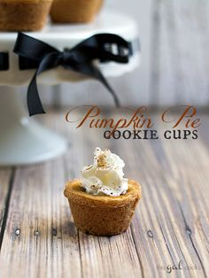 Pumpkin Pie Cookie Cups - NOM!!!
