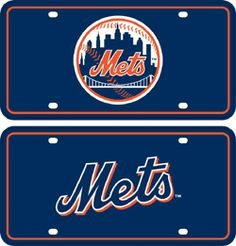 New York Mets Holographic License Plate