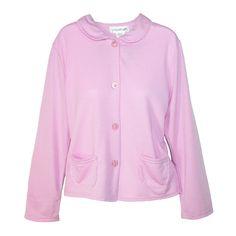 Sag Harbor Women's Plus Size Button Front Bed Coat Robe