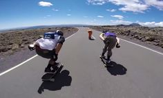 Meanwhile In New Zealand...Longboarders Shred The F*ck Out Of Mt Ruapehu - Nothing But Extreme Speeds And Killer Corners! - Gorilla Gang New Zealand