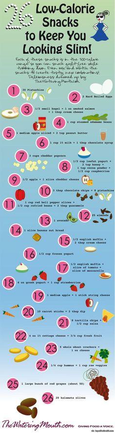 26 Low Calorie Snacks to Keep You Looking Trim via topoftheline99.com