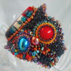 Rio de Janeiro bead embroidered cuff by 4uidzne Sharayah Sheldon