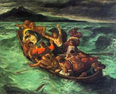 Cristo en el Lago de Gennezaret de 1854 - Eugène Delacroix