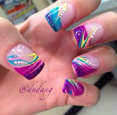 Opting for bright colours or intricate nail art isn't a must anymore. This year, nude nail designs are becoming a trend. Here are some nude nail designs. Fingernail Designs, Toe Nail Designs, Acrylic Nail Designs, Cute Nail Art, Cute Acrylic Nails, Beautiful Nail Art, Bright Nail Designs, French Nail Designs, Spring Nails