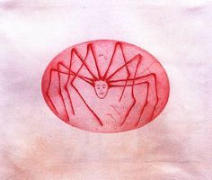Louise Bourgeois  - Spider Woman, 2005. Drypoint on handmade paper.